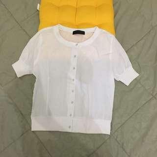 Kaos Casual Putih katun size S Casual white shirt