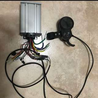 52v 1000w scooter controller with lcd finger throttle