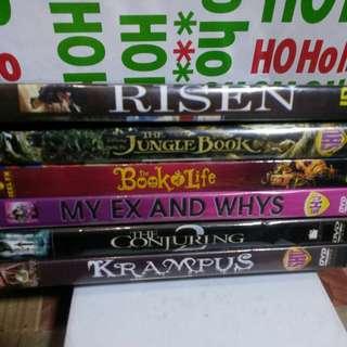 6 pcs for Random Dvd's
