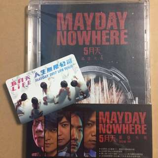 Mayday NOWHERE DVD and LIMITED EDITION ezlink card