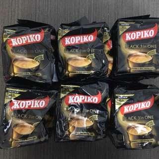 KOPIKO Instant Coffee - BLACK 3 in one x 60 sachets