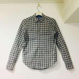 Gap小清新配色超挺質感長袖襯衫