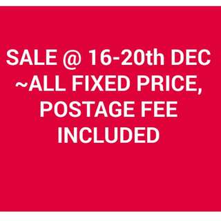 SALE@Fixed Price included postage fee