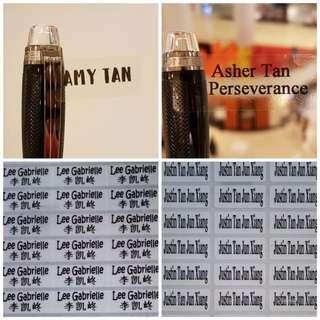 Transparent Name Sticker