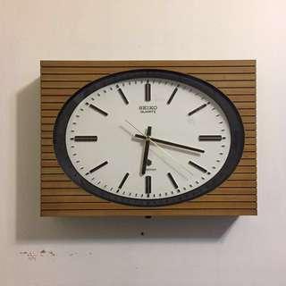 日本製 1980s SEIKO 靜音石英壁鐘