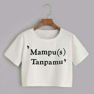 Mampus crop tee putih