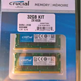 Crucial 32GB Kit DDR4 Notebook Memory