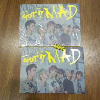 GOT7 MAD Album Only Horizontal Version