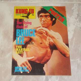 Rare Kung Fu Monthly #1 Bruce Lee 李小龍 1974 UK Poster Magazine First Issue KFM