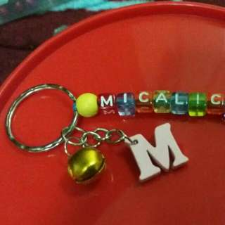 Name keychain with charms