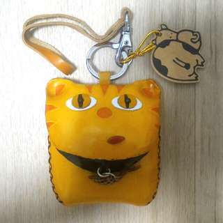 Genuine Leather Small Pouch - Cat