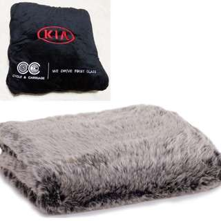 Faux fur blanket from Cycle & Carriage sale !