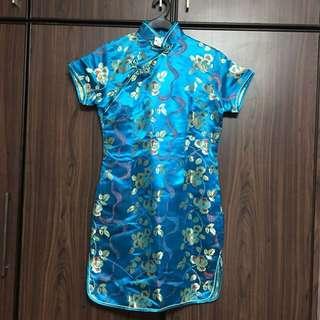 Cheongsam, dresses, blue cheongsam