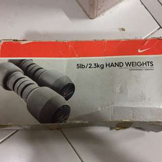 Nike 5lb hand weights