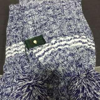 紫色-麻花猴圍巾