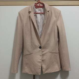 [reduced price] H&M soft pink blazer