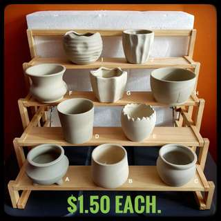 Clearance Sale - unglazed clay fired pots