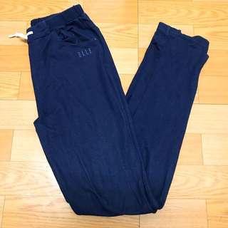 ELLE藍色直筒棉褲150-160可以穿#舊愛換新歡