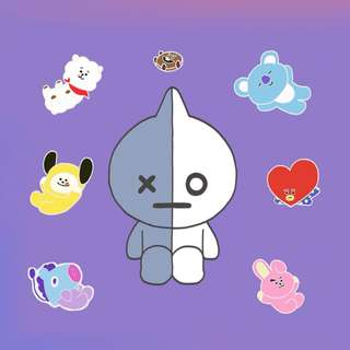 [SG GO] BTS BT21 'Idol Critters' Pin Series by @pinsoverflowers