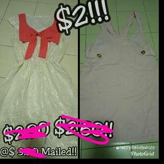 Clearance sale @ $2 Mailed !! Pink set dress!!