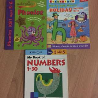 Clearance- bundle of Phonics , Kumon Books