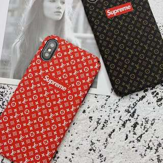 Supreme x LV Crossover Phone Case For iPhone 6/7/8/X