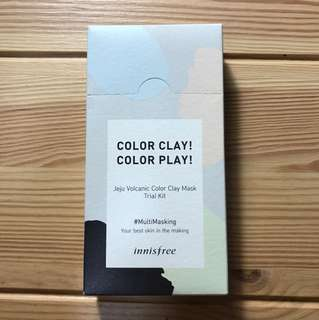 volcanic colour clay mask trial kit