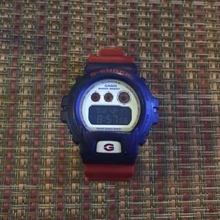 Casio G-Shock Red and Blue Big Case Watch DW6900AC-2D
