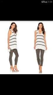 Brand New* LA Made Ivory And Navy Stripe Tank / Dress