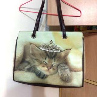 🚚 全新專櫃貓咪Tr'esBien手提肩背包