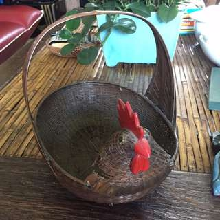 Antique Chicken Basket