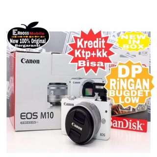 Canon EOS M10 Kit EF-M 15-45mm Resmi-cash/kredit ditoko ktp+kk bisa 081905288895