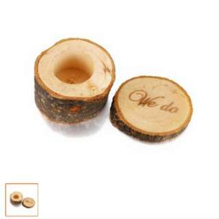 New Rustic Wooden Ring Box For Garden Wedding