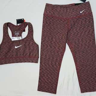 Nike Dri-Fit Active Wear Set (Sports Bra + Capri)