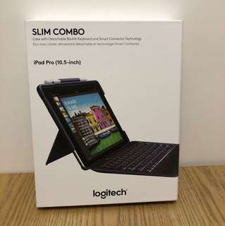 """I pad pro 10.5"""" Logitech slim combo 可拆式鍵盤連保護套"""