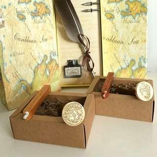 🎄XMAS🎄Harry Potter *Hogwarts**Ravenclaw* Classic Vintage Sealing Wax Stamp Set Gift Box