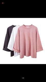 Korean style pink loose tee