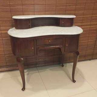 Antique marble side table