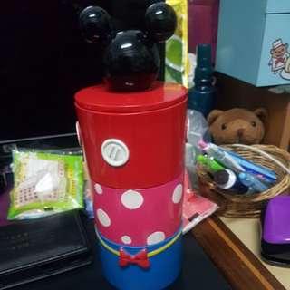 迪士尼三層收納罐