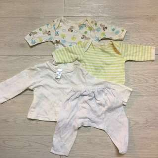 4 pc set baby clothinng