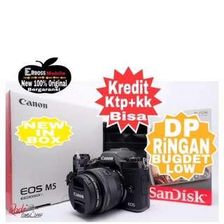 Canon EOS M5 Kit 15-45mm Resmi-cash/kredit ditoko ktp+kk bisa 081905288895