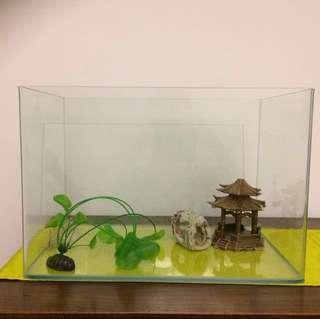 Fish tank w44cm D30cm h30cm