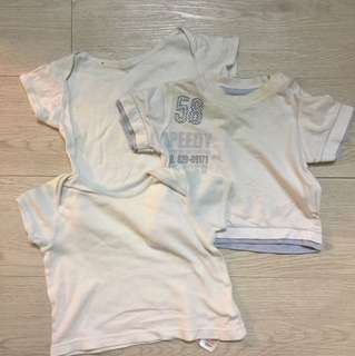 Mothercare 3 pc set baby tops