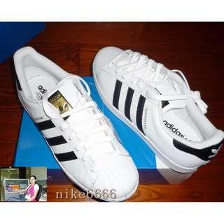 Adidas SUPERSTAR 三葉草金標黑白貝殼頭 C77154 C77124