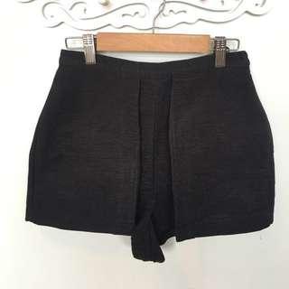 Topshop Black High-waisted Shorts