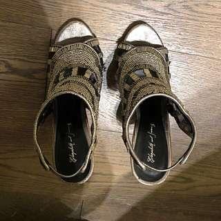 聖誕必備:Jewelled Elizabeth and James open toes heels