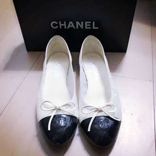 Chanel flat shoes size 39.5C