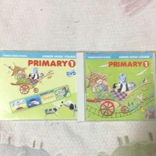 Yamaha Junior Music Course Pri 1 CD & DVD