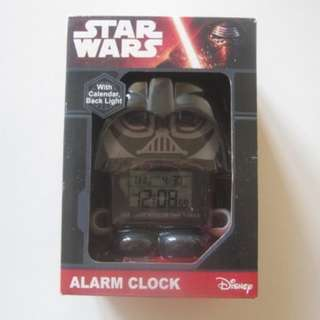全新連盒 Star Wars Darth Vader alarm clock 黑武士鬧鐘