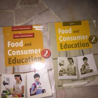 Secondary 2 Express Food and Consumer Textbooks and workbook